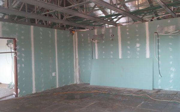 בנייה מתקדמת בשלב הכנה לצבע